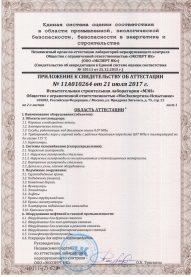 """ООО """"МосЭкспертиза - Испытание"""" свидетельство об аттестации Лист 1."""