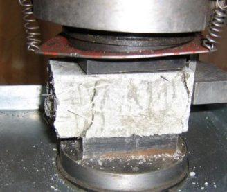один из видов испытания бетона