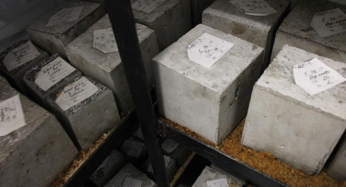 кубики образцы бетона